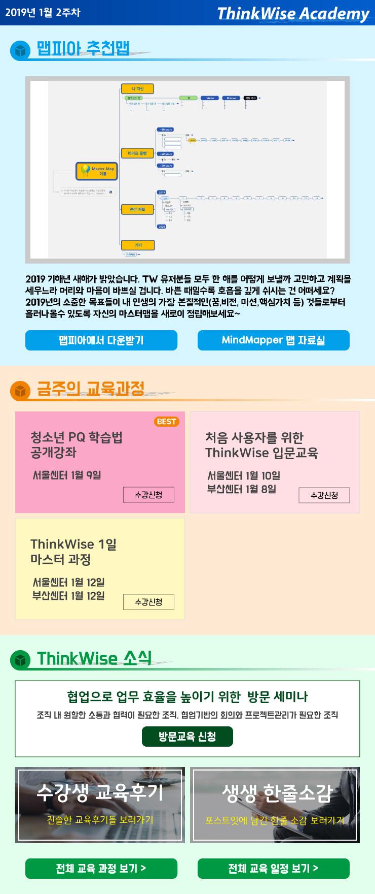 2019년 맵피아 추천맵 & 1월 2주차 교육과정