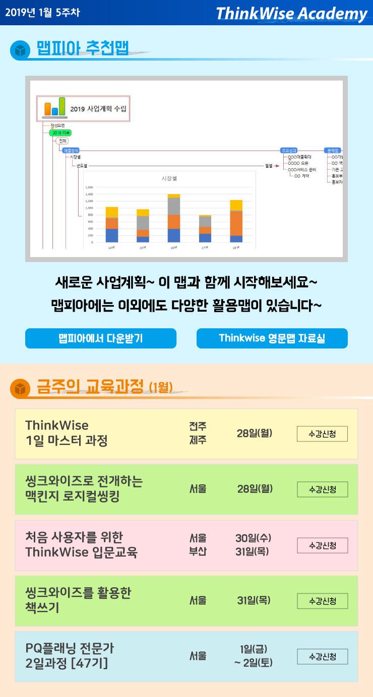 2019년 맵피아 추천맵 & 1월 5주차 교육과정